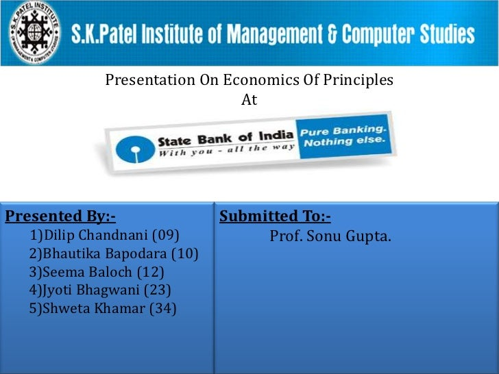 Presentation On Economics Of Principles<br />At<br />Submitted To:-<br />Prof. Sonu Gupta.<br />Presented By:-<br />1)Dili...