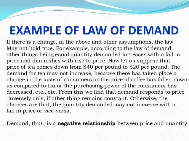 Explain With Diagram Law Of Demand