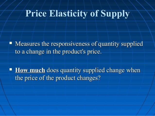 determinants of elasticity of supply