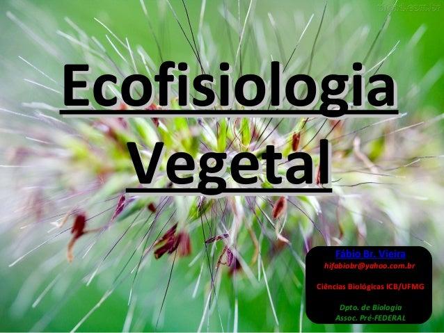 EEccooffiissiioollooggiiaa  VVeeggeettaall  Fábio Br. Vieira  hifabiobr@yahoo.com.br  Ciências Biológicas ICB/UFMG  Dpto. ...