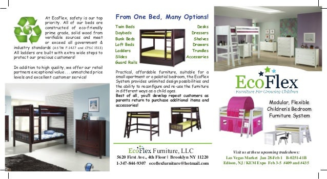 sample mini catalog ecoflex furniture trifold