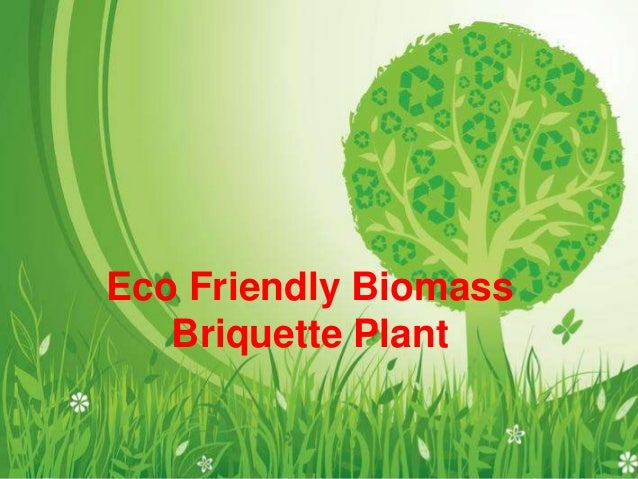 Eco Friendly Biomass Briquette Plant