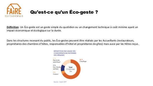 Eco-gestes dans les structures touristiques Slide 3