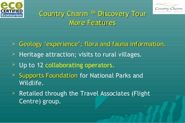 Country CharmCountry Charm TMTM Discovery TourDiscovery Tour Original Marketing Plan (August 2009)Original Marketing Plan ...