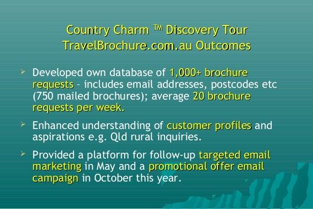Country Charm Tour LeadsCountry Charm Tour Leads SourceSource 0 0.001 0.002 0.003 0.004 0.005 0.006 0.007 0.008 % ACT TAS ...