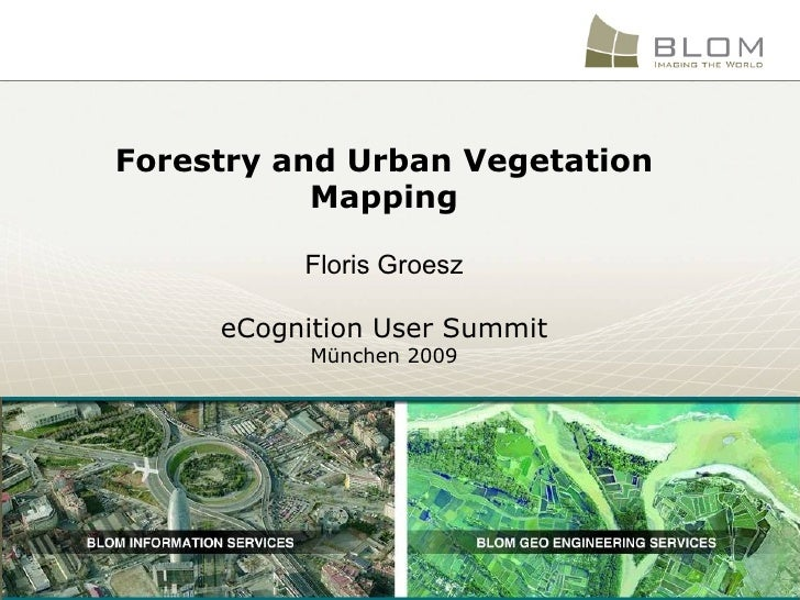Forestry and Urban Vegetation Mapping Floris Groesz eCognition User Summit München 2009