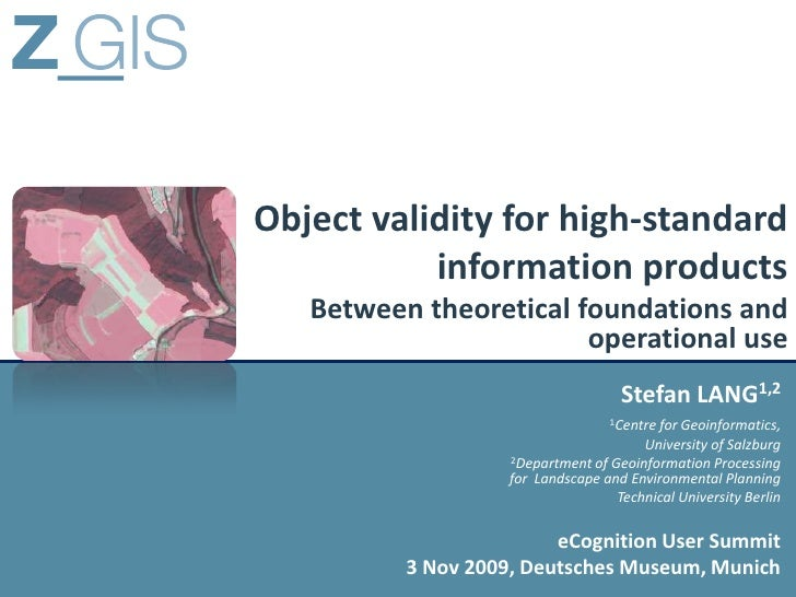 Object validity for high-standard            information products    Between theoretical foundations and                  ...