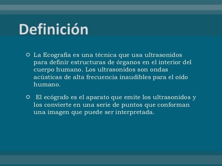 Ecografia ginecol gica y obst trica for Definicion de gastronomia pdf