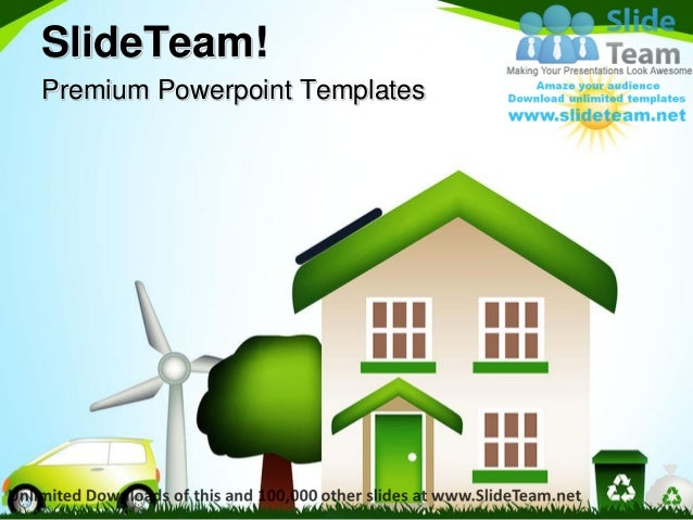 eco house environment power point themes templates and