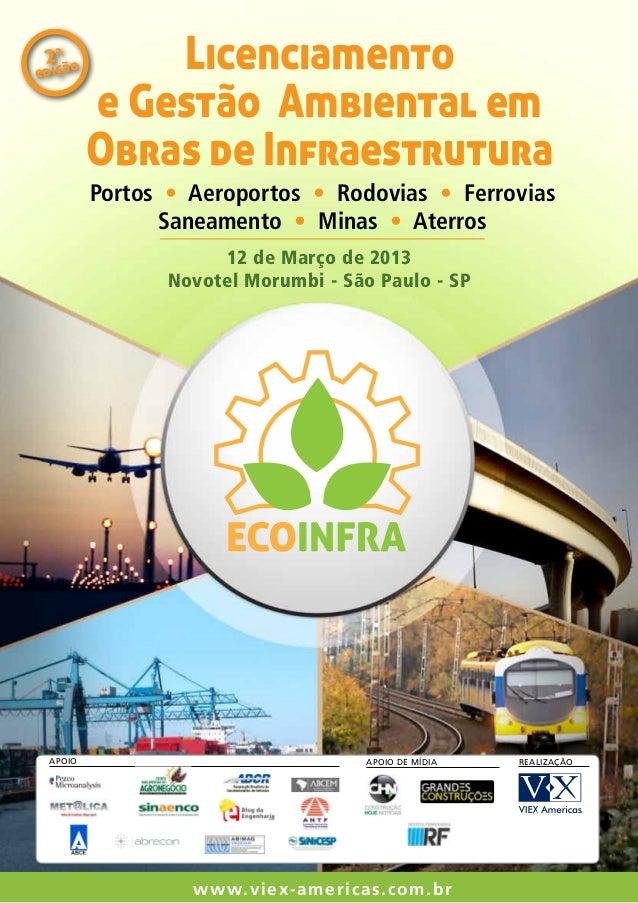 a 2çãoedi              Licenciamento          e Gestão Ambiental em          Obras de Infraestrutura          Portos • Aer...