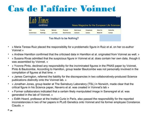 29P_ Cas de l'affaire Voinnet • «Maria Teresa Ruiz placed the responsibility for a problematic figure in Ruiz et al. on h...