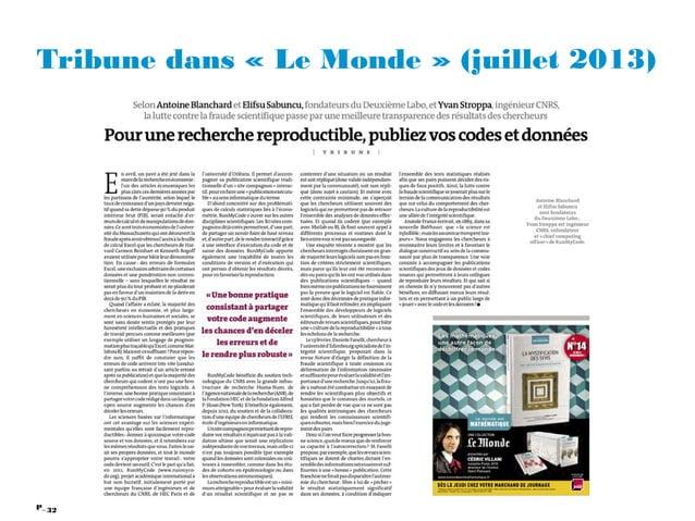 32P_ Tribune dans «Le Monde» (juillet 2013)