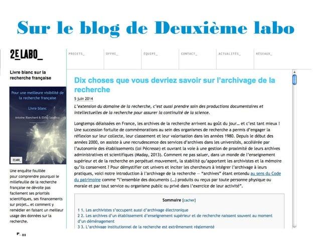 41P_ Sur le blog de Deuxième labo