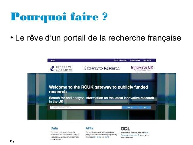 9P_ Pourquoi faire ? • Le rêve d'un portail de la recherche française