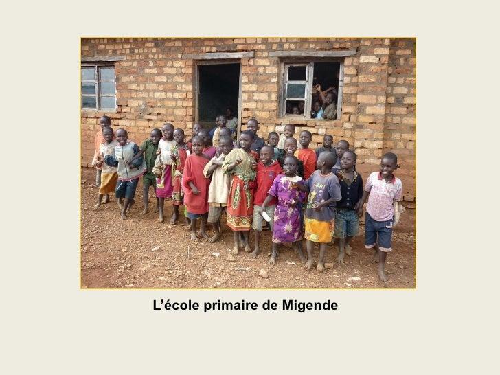 L'école primaire de Migende