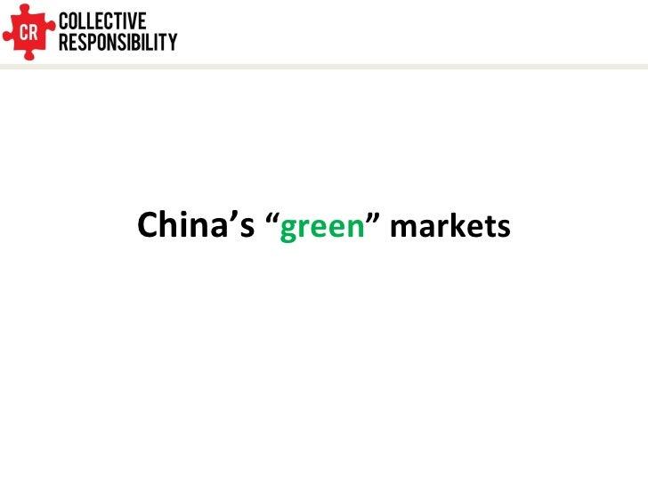 """China's  """" green """" markets"""