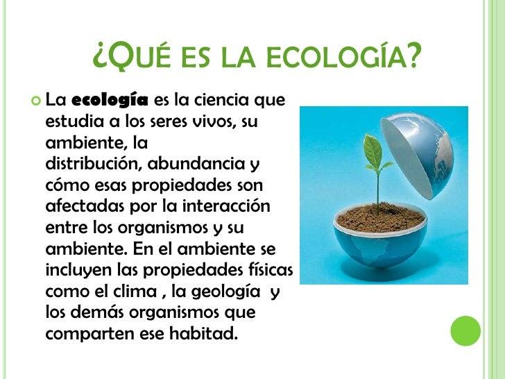 Ecología Slide 2