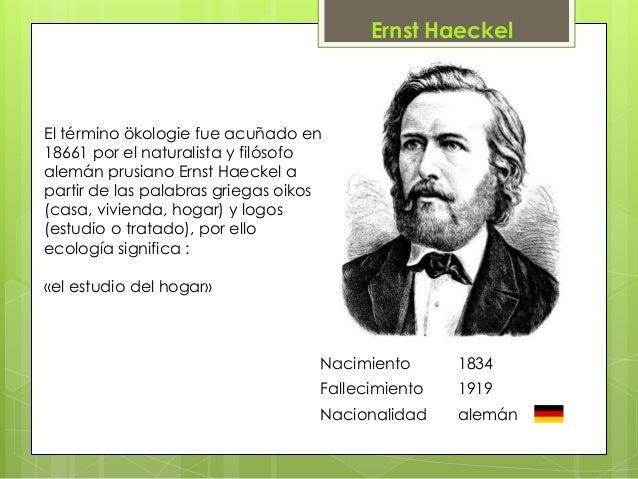 Haeckel ecologia