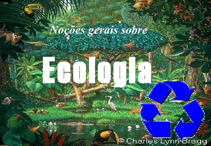 Noções gerais sobre Ecologia
