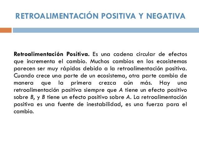 Resultado de imagen para realimentación positiva y negativa
