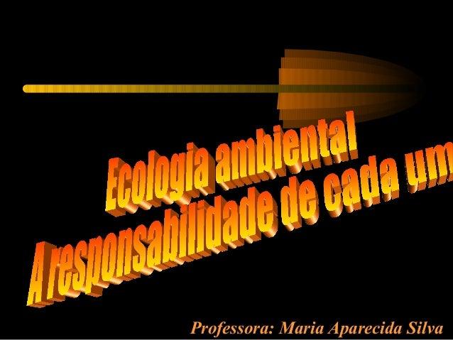 Professora: Maria Aparecida Silva