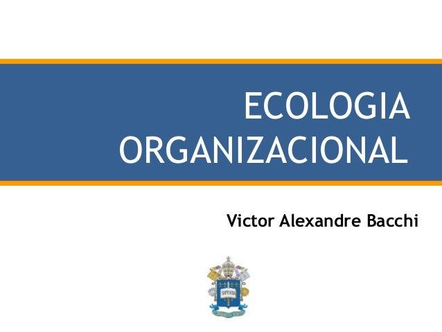ECOLOGIA ORGANIZACIONAL Victor Alexandre Bacchi