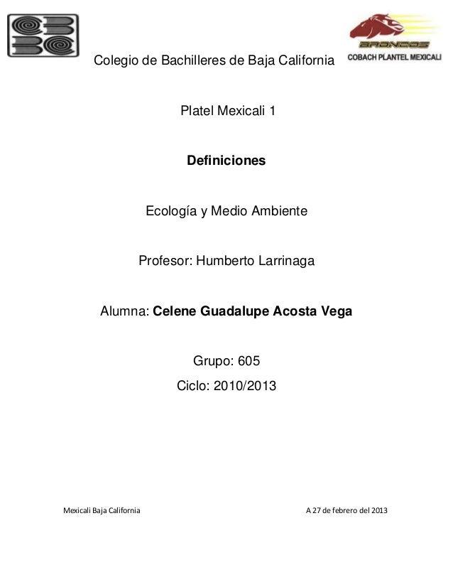 Colegio de Bachilleres de Baja California                                Platel Mexicali 1                                ...