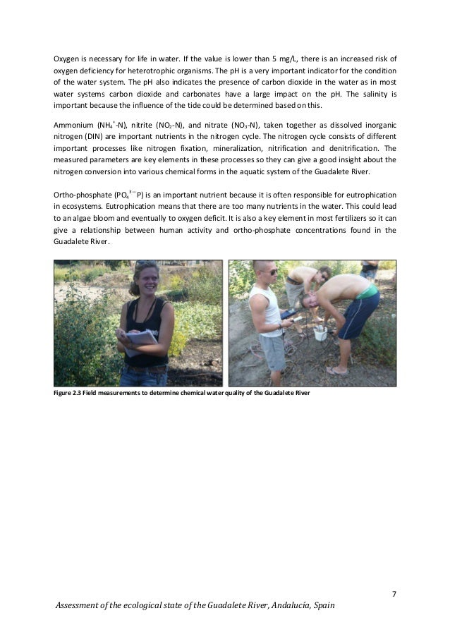 assessing water quality in a stream by chemical means essay Advertisements: essay on water pollution: sources, effects and control of water pollution water pollution is defined as the addition of some substance (organic, inorganic, biological, and radiological) or factor (eg, heat) which degrades the quality of water so that it either becomes health hazard or unfit for use.