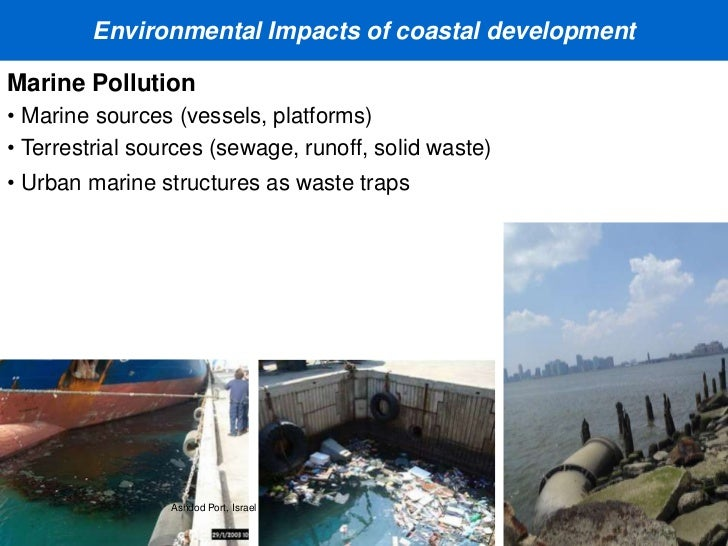 environmental and ecological impacts of coastal This article gives a review of human activities and pressures producing threats to the coastal zone  the environmental impacts of marinas and small harbours .