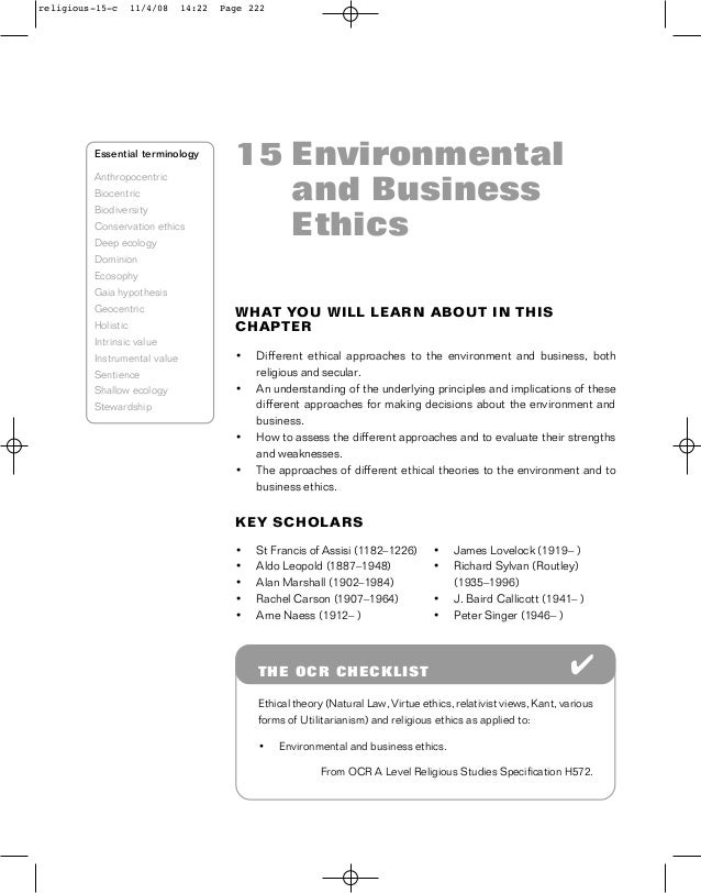 environmental ethics issues