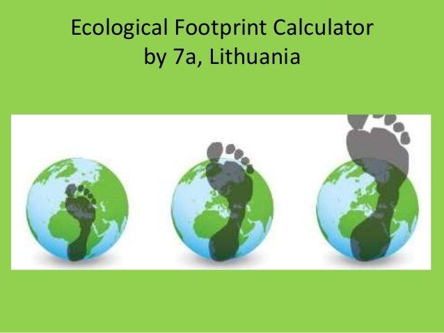 Footprint calculator for kids.