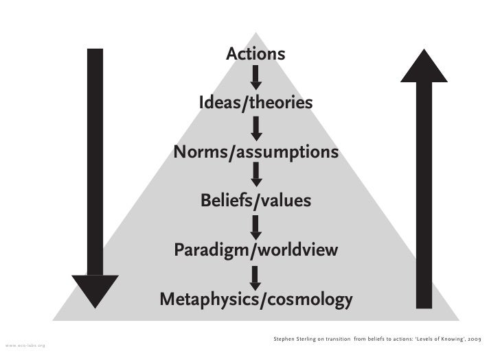 Actions                         Ideas/theories                      Norms/assumptions                         Beliefs/valu...