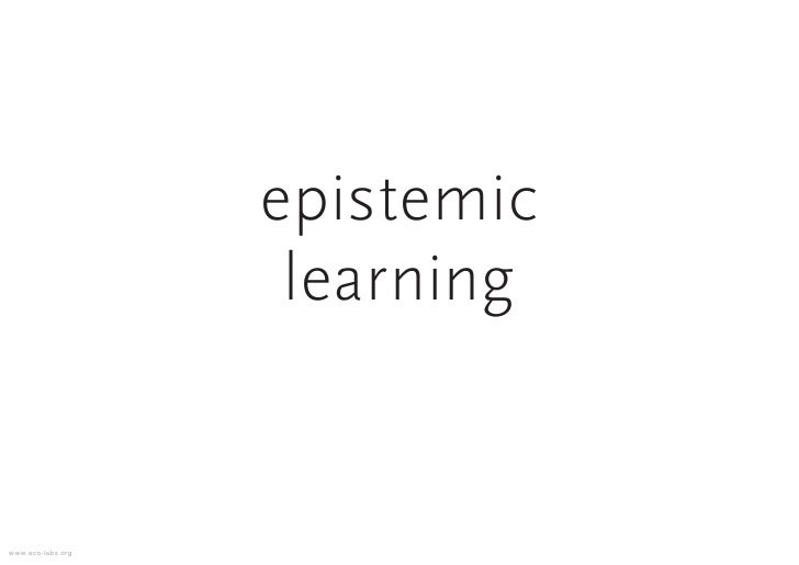 epistemic                     learning   www.eco-labs.org