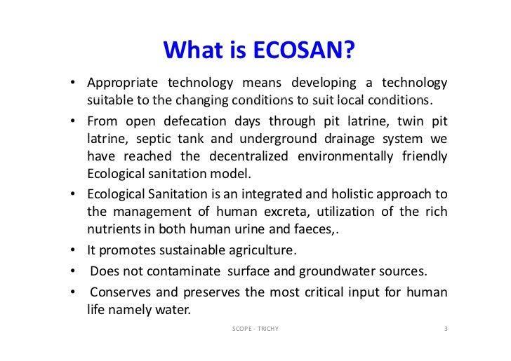 Ecological Sanitation M Subburaman Scope 2012