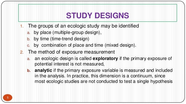 Relationship among the five levels of ecological study areas
