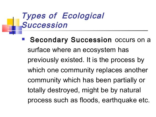 what is the main difference between primary and secondary succession