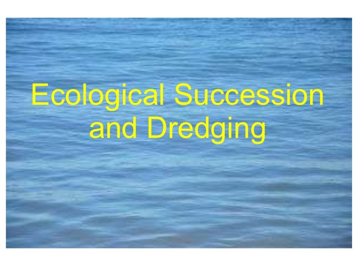 Ecological Succession and Dredging