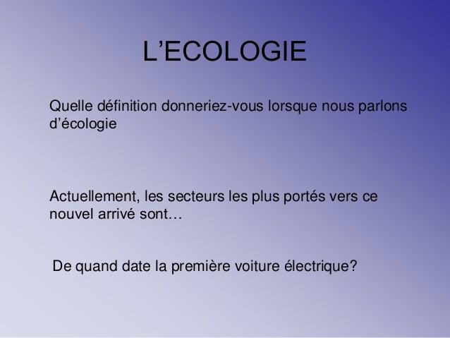Ecologie 10 9 13 Ppt