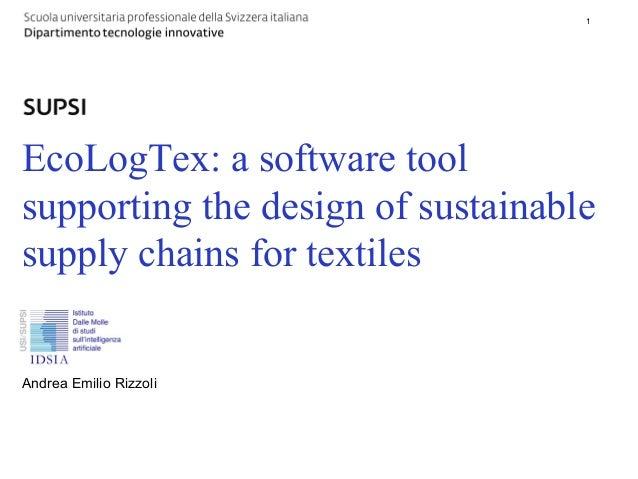 DTI / Titolo principale della presentazione   1                                                      1EcoLogTex: a softwar...