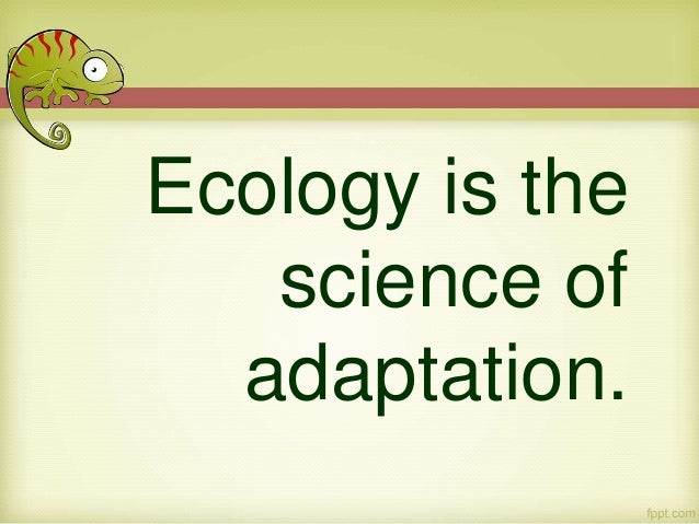 ecological adaptation