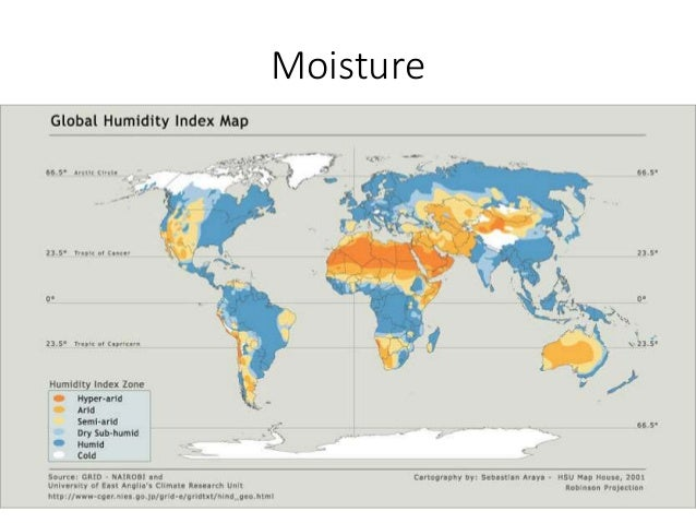 Humidity World Map.Ecology