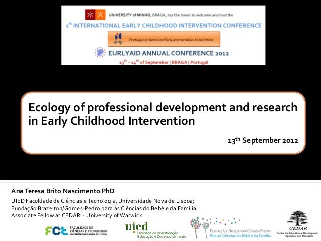 Ecology of professional development and research      in Early Childhood Intervention                                     ...