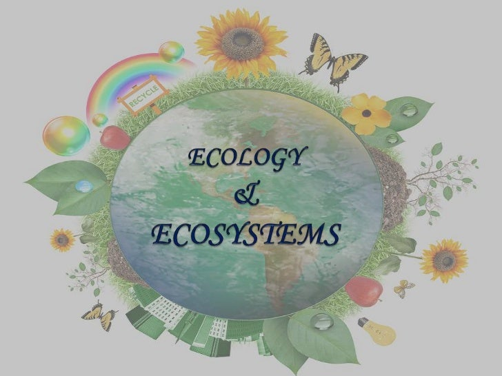 Ecology and Ecosystems Ecology is the scientific study of relations that living organisms    have with respect to each ot...