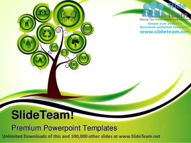 ecology tree environment power point templates themes and backgrounds