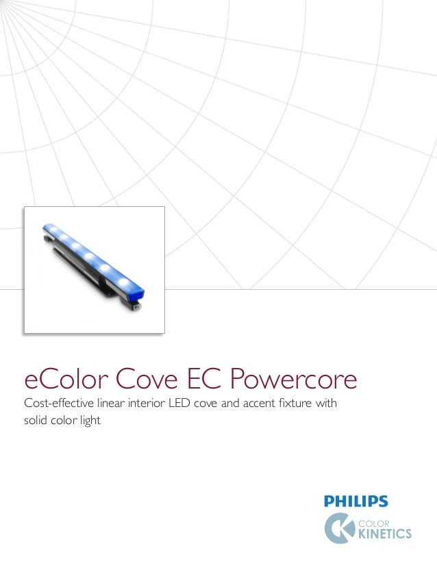 eColor Cove EC Powercore Cost-effective linear interior LED cove and accent fixture with solid color light