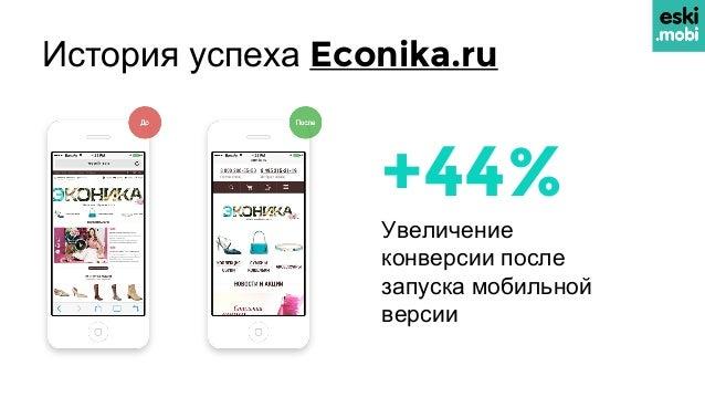 История успеха Econika.ru +44% Увеличение конверсии после запуска мобильной версии