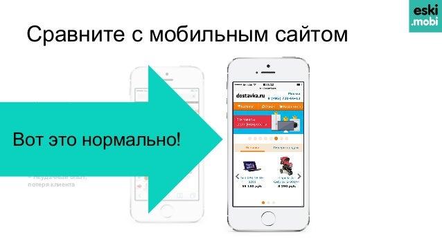 Сравните с мобильным сайтом – Нечитаемый текст – Неудобная навигация – Мелкие кнопки и ссылки – Медленно загружается —————...