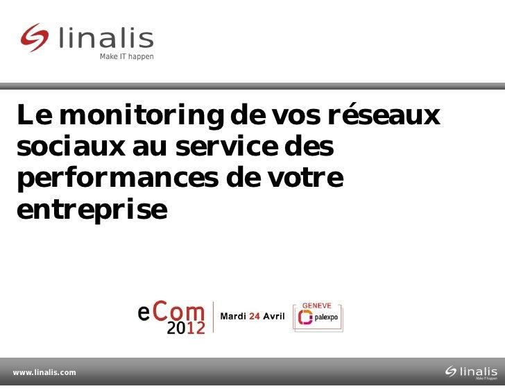 Le monitoring de vos réseauxsociaux au service desperformances de votreentreprisewww.linalis.com