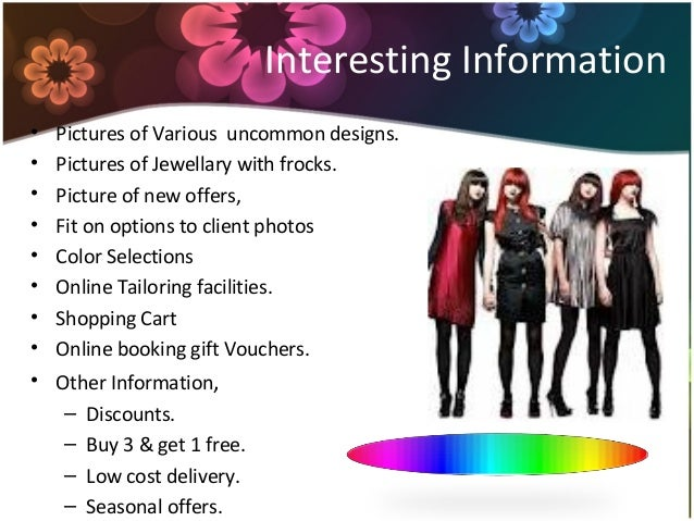 Online clothing store business