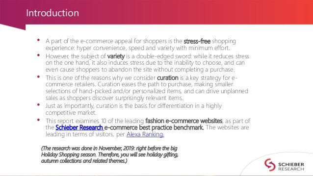 Introduction • A part of the e-commerce appeal for shoppers is the stress-free shopping experience: hyper convenience, spe...